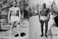 Joe Pilates at ages 57 & 82